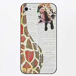 Giraffe Pattern PC Hard Case for iPhone 4/4S