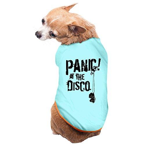CoCe Dog's Nevada Rock Band Panic At The Disco Font Logo Dog Sweater Fleece M SkyBlue