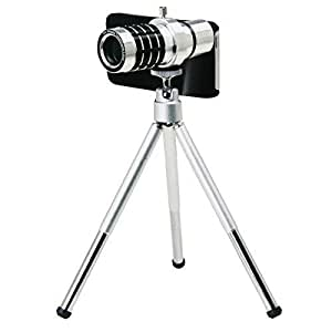 12x Telephoto Camera Lens for iphone 5 5s with Tripod Mount