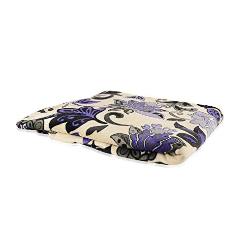 Shop LC Delivering Joy DAHDOUL Home Flannel Mega Throw Black White and Purple Super Soft Microfiber 2 Ply Blanket Throw Queen