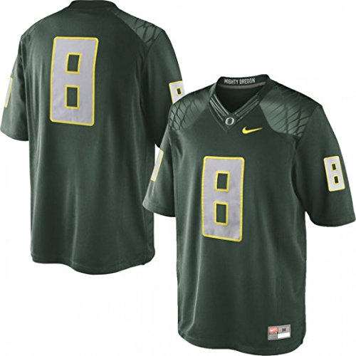 Nike Men's Oregon Ducks #8 College Limited Jersey Large Green Yellow