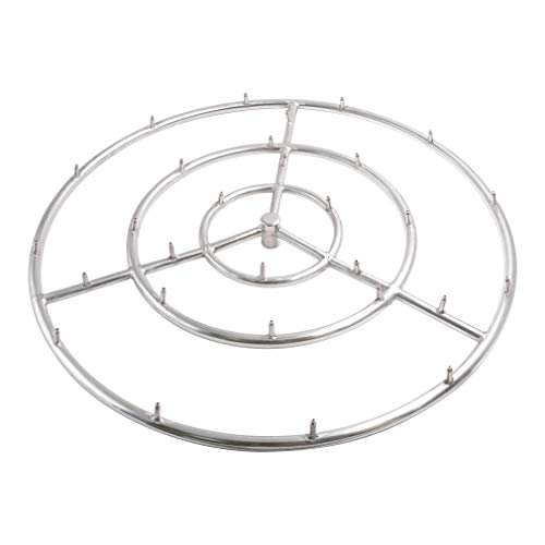 - Skyflame 30-Inch Round Stainless Steel Fire Pit Jet Burner Ring, High Flame