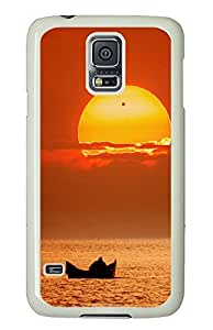 Samsung Galaxy S5 Boating Sunset PC Custom Samsung Galaxy S5 Case Cover White