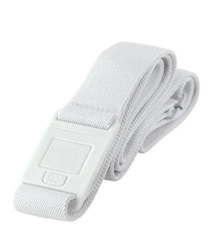 BeltawaySQUARE Adjustable Stretch Belt With No Show Square Buckle (One Size (0-14), White & Denim) by BELTAWAY (Image #3)