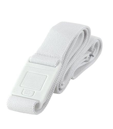 Beltaway Belt SQUARE BUCKLE-Flat Belt (One Size), WHITE - Square Buckle Belt