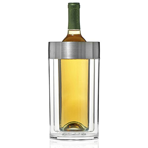 Wine Enthusiast Double Walled Iceless Wine Bottle (White Wine Chiller)