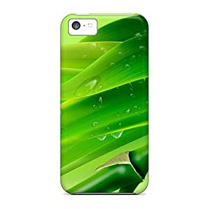 CalvinDoucet Snap On Hard Cases Covers Bamboo Drops Protector For Iphone 5c