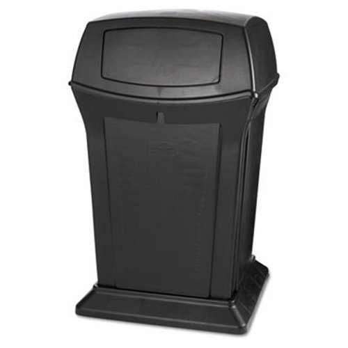 (Rubbermaid 917188BLA Ranger Fire-Safe Container, Square, Structural Foam, 45 gal, Black)