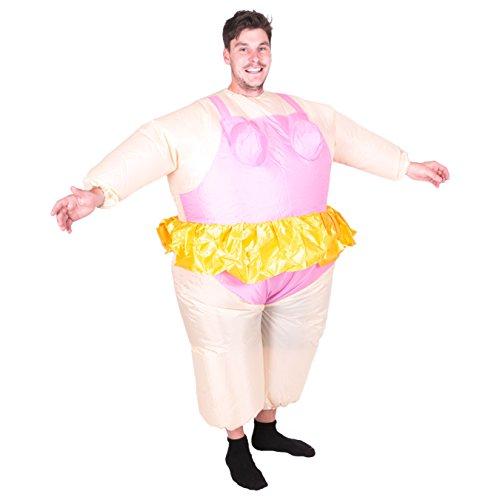 Adult Ballerina (Bodysocks - Inflatable Ride Me Adult Carry On Animal Fancy Dress Costume)