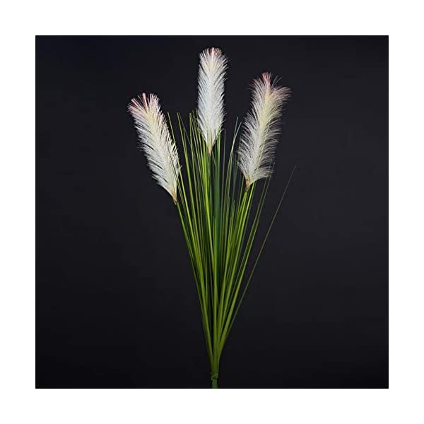 Hockus Decorations 1m Artificial Flower Reed Grass Foxtail Fake Flower Decorative Plant Potted Plant Plastic Home Decoration Fake Grass Plants – (Color: 1pcs)