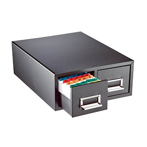 Steelmaster Double Card File Drawer, Steel, 6 x 9 Inches, Black (263F6916DBLA)