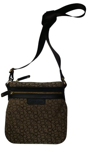 Women's Calvin Klein Purse Handbag Crossbody Khaki/Brown