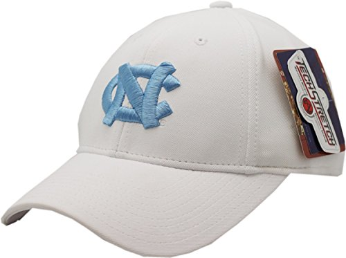 North Carolina Tar Heels White Flex Fit Cap (Large) American Needle Embroidered Cap