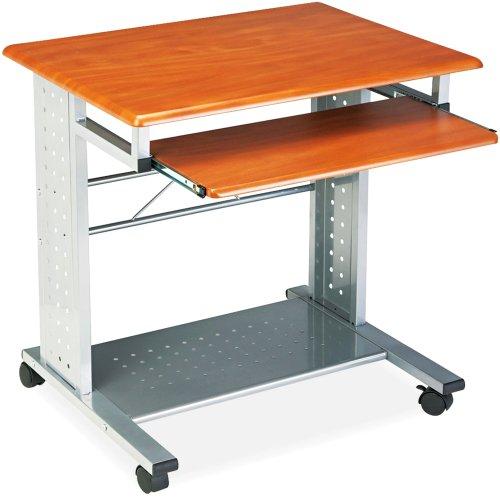 - Safco Products 945MEC SOHO Mobile Workstation, Medium Cherry/Metallic Gray