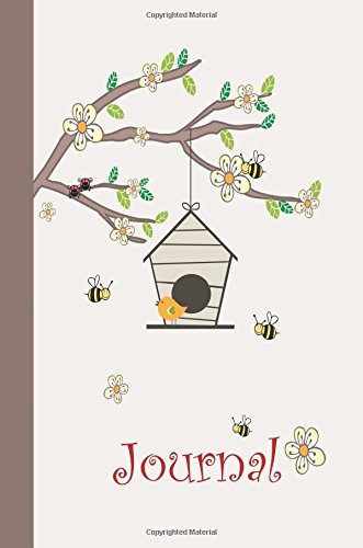 Journal: Birds and Bees 6x9 - DOT JOURNAL - Journal with dotted pages (Birds and Butterflies Dot Journal Series)