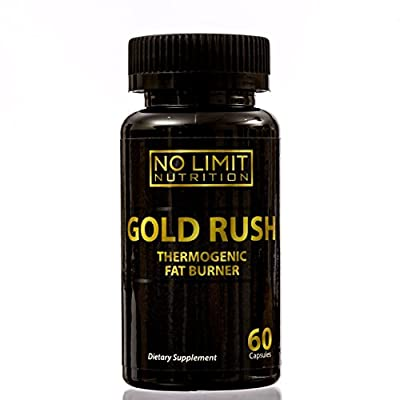 No Limit Nutrition Gold Rush Thermogenic Fat Burner Weight Loss Supplement 60 Capsules - Weight Loss - Natural Energy - Appetite Suppressant