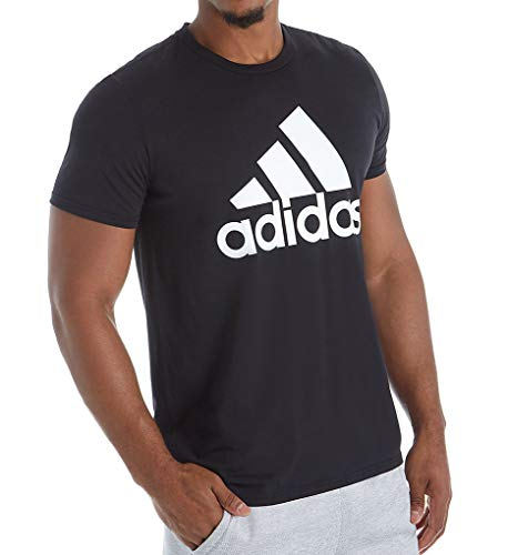 adidas Mens Badge of Sport Graphic Tee, Black/White, XX-Large