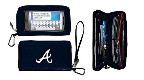 Charm14 MLB Atlanta Braves Deluxe Cell Phone Wallet-Fits all (Atlanta Braves Credit Card)