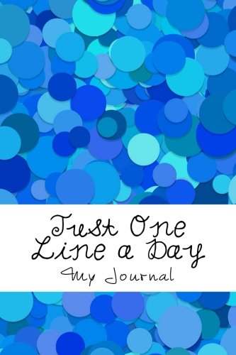 Download Just One Line a Day: Five Year Memory Journal/Abstract Blue Dots Cover Design pdf