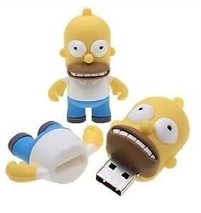 16GB Homer Simpson Los Simpsons 3D Pendrive Pen Drive Memoria Usb-PD099(Envío de Fábrica 25 días aprox)