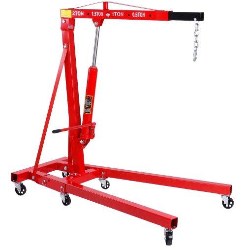 Werkstattkran / Motorheber / Motorkran klappbar 2000kg inkl. Stahlkette mit Haken
