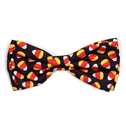 The Worthy Dog Halloween Costume Candy Corn Pattern Designer Bow Tie for Pet Dog Cat -