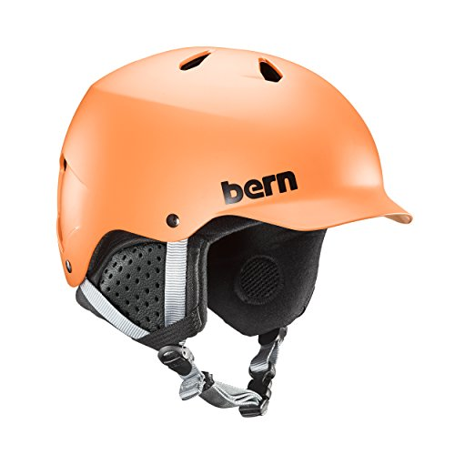 Bern Watts EPS Helmet (Matte Orange with Black Liner, Small)