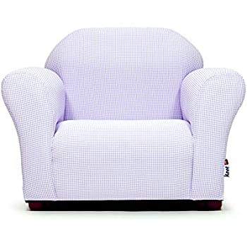 Amazon Com Keet Roundy Kid S Chair Gingham Lavender Baby
