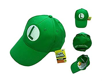 766c22fab3c Image Unavailable. Image not available for. Colour  Tops Day Super Mario  Bros. Luigi Green Hat Leisure Baseball Cap