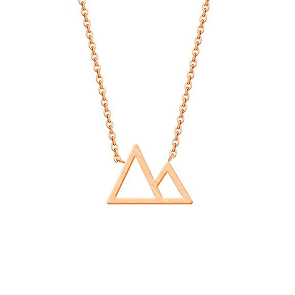 Hikers Campers Skiers NOUMANDA Simple Triangle Mountain Necklace Women Nature Lovers