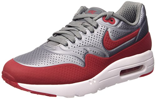 Nike Air Max 1 Ultra Moire, Scarpe Sportive, Uomo Mtlc Cool Grey/Gym Red-white