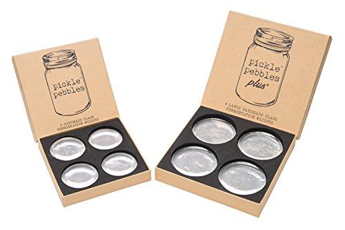 Pickle Pebbles - Glass Fermentation Weights for Small-Batch Mason Jar Fermentation - Standard & PLUS+ Combo Pack (8 (Combo Pack Standard)