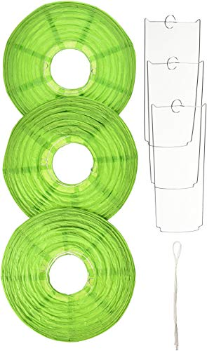Amscan 24055.53 Round Paper Lanterns, 9 1/2 inches, Kiwi]()