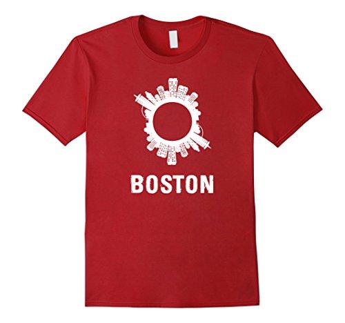 Mens Boston, MA City Downtown Skyline T-Shirt Medium - Ma Downtown