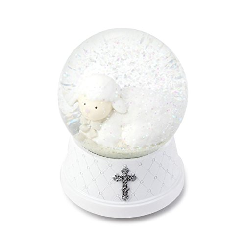DEMDACO Musical Water Globe, Jesus Loves (Inspirational Snowglobe Gift)