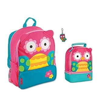 Amazon Com Stephen Joseph Girls Sidekick Owl Backpack