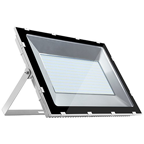 Heilsa 500W LED Flood Light, 40000Lm 6000-6600K (Cold White) IP70 Waterproof Super Bright Outdoor Floodlight for Garden Yard, Lawn, Playground LED - Floodlight 500w