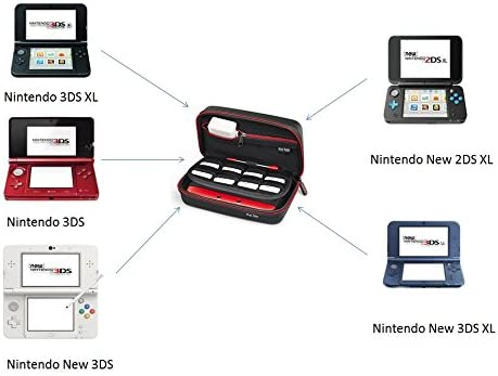Amazon.com: Nintendo 3DS XL/New 2DS XL Funda, Keten Carrying ...