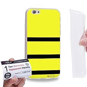"Case88 [Apple iPhone 6 / 6s (4.7"")] Gel TPU Carcasa/Funda & Tarjeta de garantía - Art Design Yellow Bumblebee"