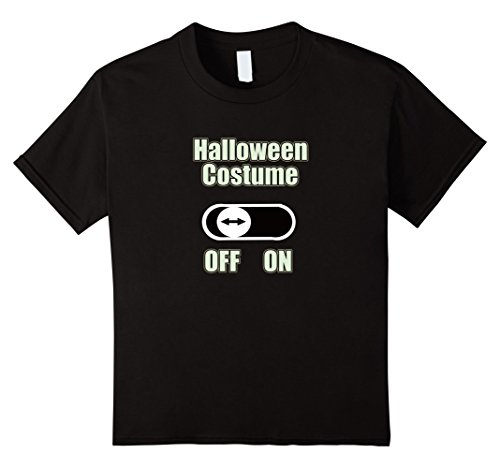 Kids Lazy Person's Halloween Costume Funny T-shirt 4 (Funny Four Person Halloween Costumes)