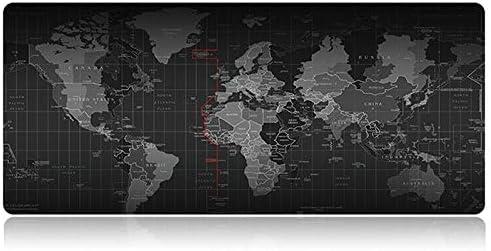Tech Stor3 Alfombrilla XL Mapa del Mundo Gaming Mouse Pad, 60 ...