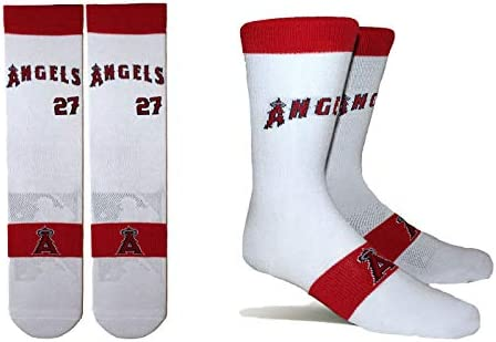 Mike Trout Los Angeles Angels #27 Unisex 1-Pack Pins Player Crew Socks
