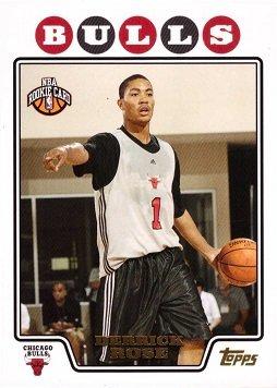 2008-09 Topps Basketball Gold Foil #196 Derrick Rose Rookie Card ()