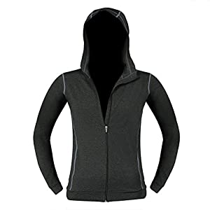 Pellor Men's Gym Workout Long Sleeved Hoodie Jacket Quick Drying Elastic Sports Running Sweatshirt