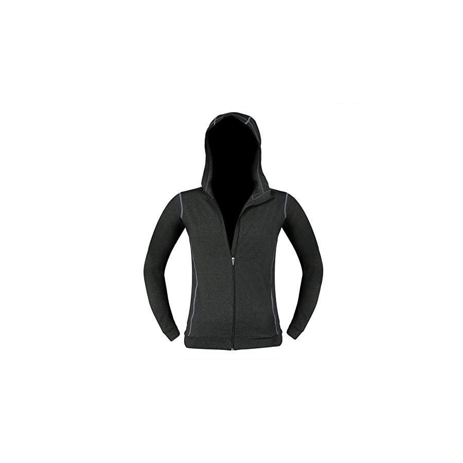 Pellor Men's Gym Workout Long Sleeved Hoodie Jacket Quick Drying Elastic Sports Running Sweatshirt