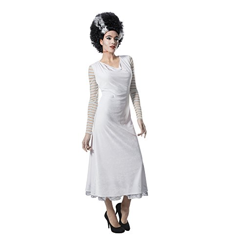 Rubie's Women's Universal Monsters Bride of Frankenstein Costume Dress, as Shown, ()