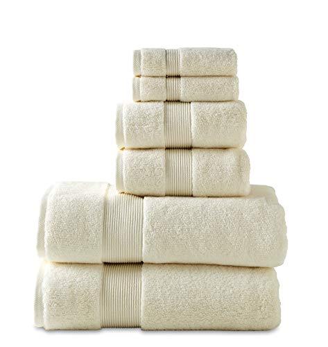- 700 GSM 6 Piece Towels Set, 100% Cotton, Zero Twist, Premium Hotel & Spa Quality, Highly Absorbent, 2 Bath Towels 30