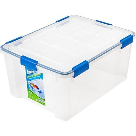 4-Piece Large Deep Weathertight Storage Box Set (Containers Storage Ziploc)