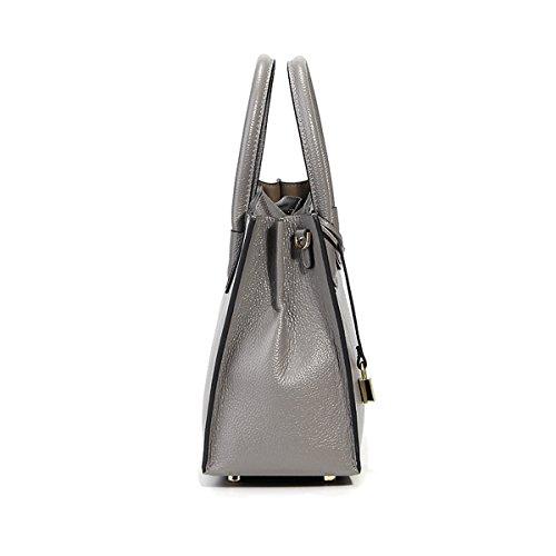Design Bag Shoulder Dissa Women Elegant Top Handbag 189 Leather Cross body Fashion Grey Lf handle T4qOxT0