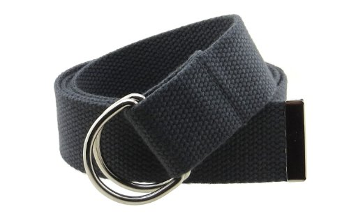 Canvas Cotton Belt (Canvas Web Belt Double D-Ring Buckle 1.5